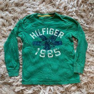 ❇️Boys Green Tommy Hilfiger Long Sleeve T Shirt ❇️
